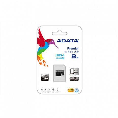 Atmiņas karte ADATA Premier UHS-I 16 GB, MicroSDHC, Flash memory class 10, No AUSDH16GUICL10-R