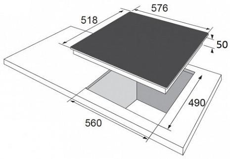 Plīts virsma  BHC63366
