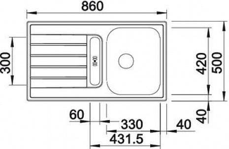 Nerūsējošā tērauda izlietne  B514788