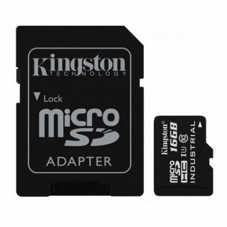Atmiņas karte Kingston Industrial Temperature UHS-I U1 16 GB, MicroSDHC, Flash memory class 10, SD Adapter SDCIT/16GB