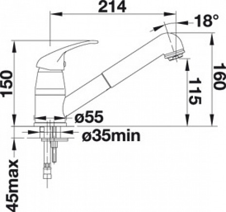 Izlietnes jaucējkrāns  B517732