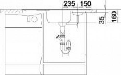 Nerūsējošā tērauda izlietne  B511582